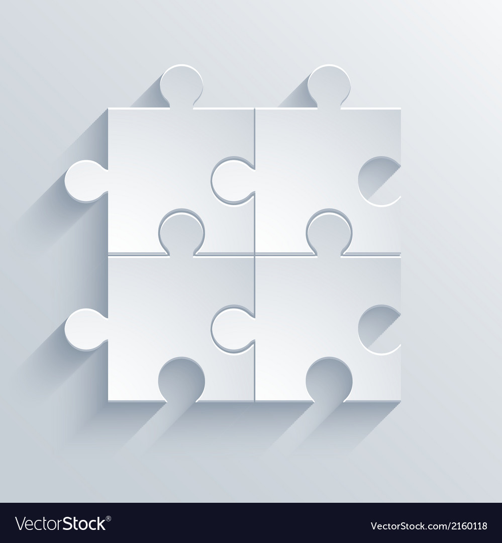 Modern puzzle icon eps 10 vector | Price: 1 Credit (USD $1)