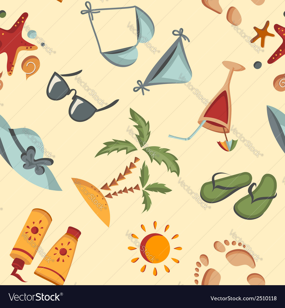 Seamless summer background vector | Price: 1 Credit (USD $1)