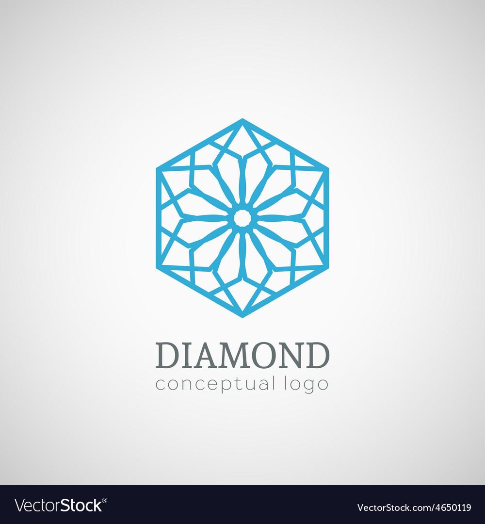 Diamond logo isolated on white vector