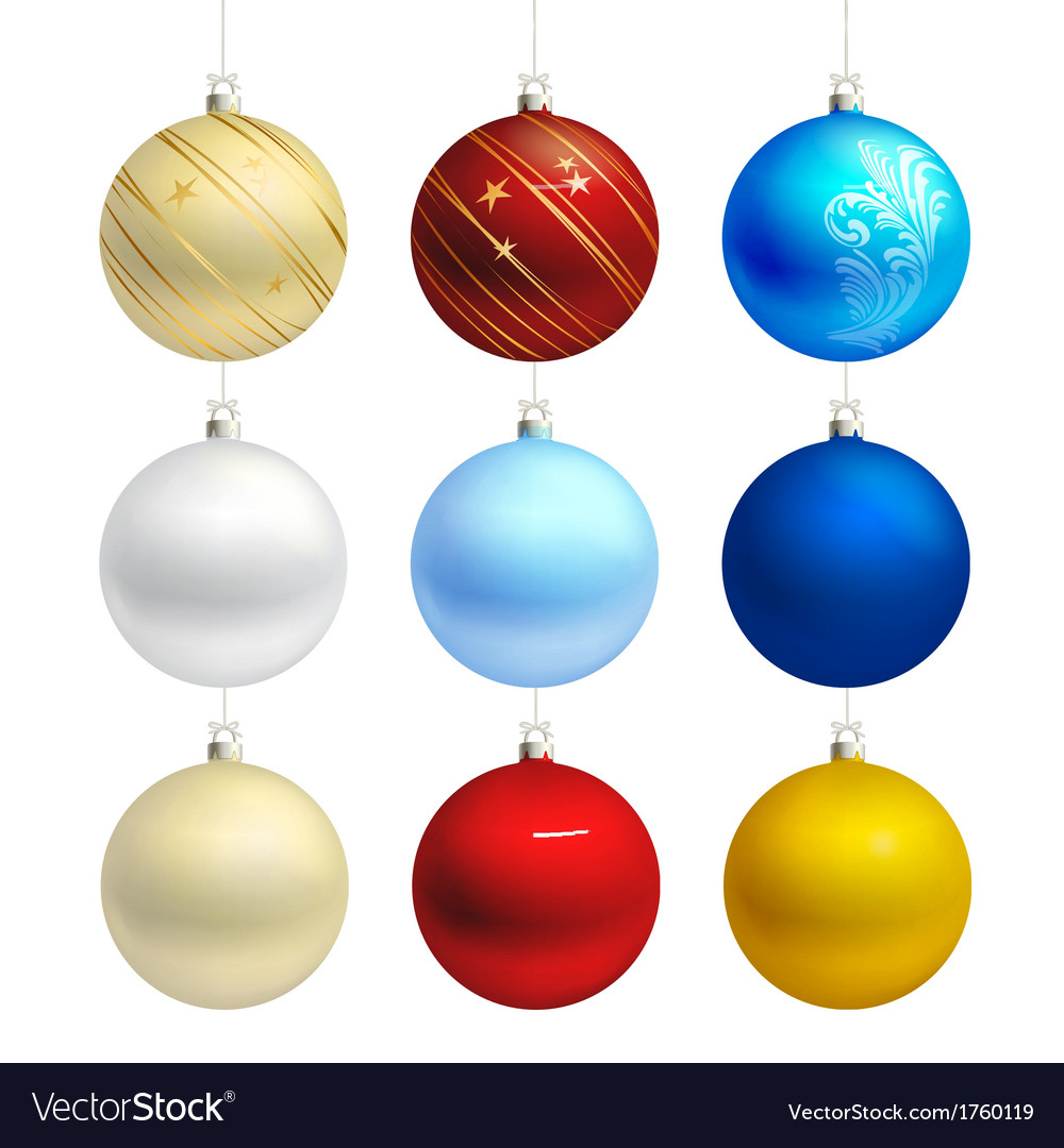 Empty christmas bauble templates vector | Price: 1 Credit (USD $1)