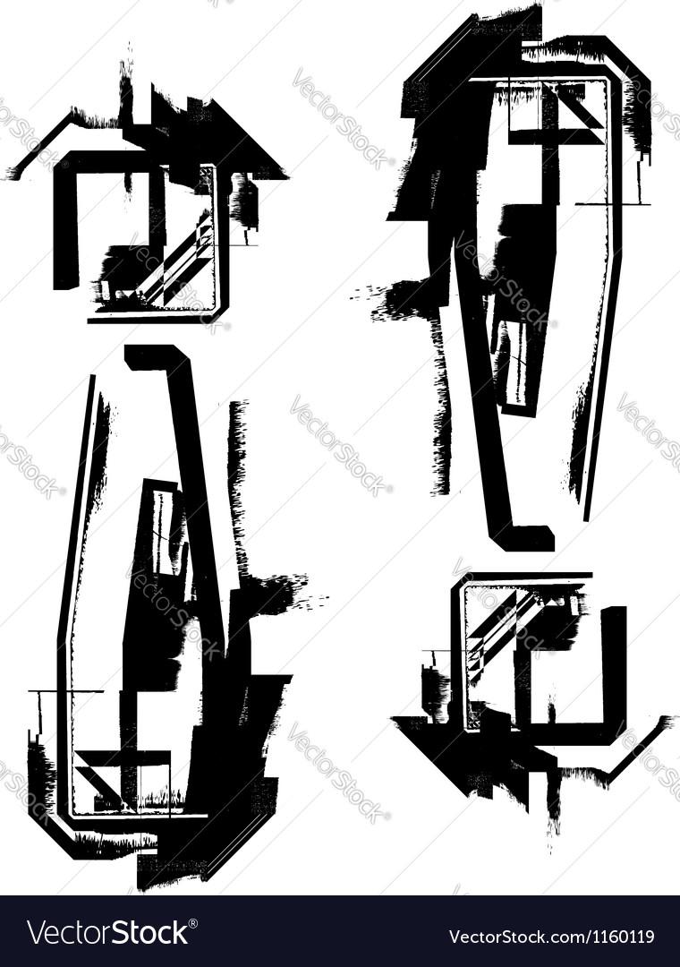 Grunge font vector | Price: 1 Credit (USD $1)