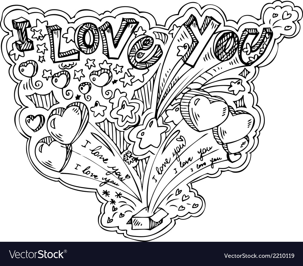 I love you box explosion vector | Price: 1 Credit (USD $1)