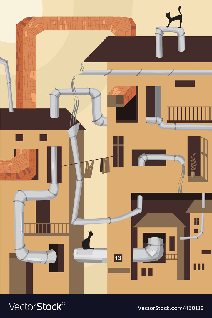 Industrial city vector | Price: 1 Credit (USD $1)