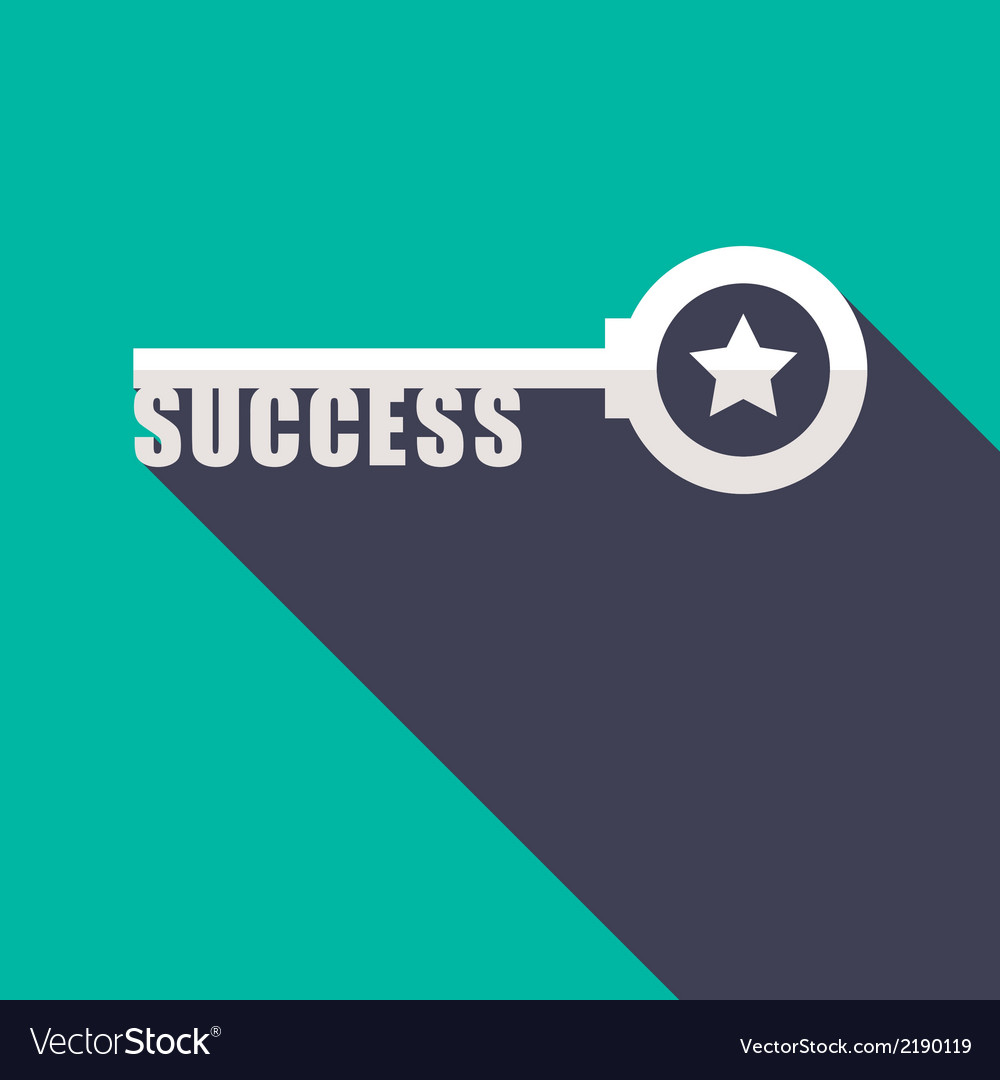 Key to success minimal style concept vector | Price: 1 Credit (USD $1)