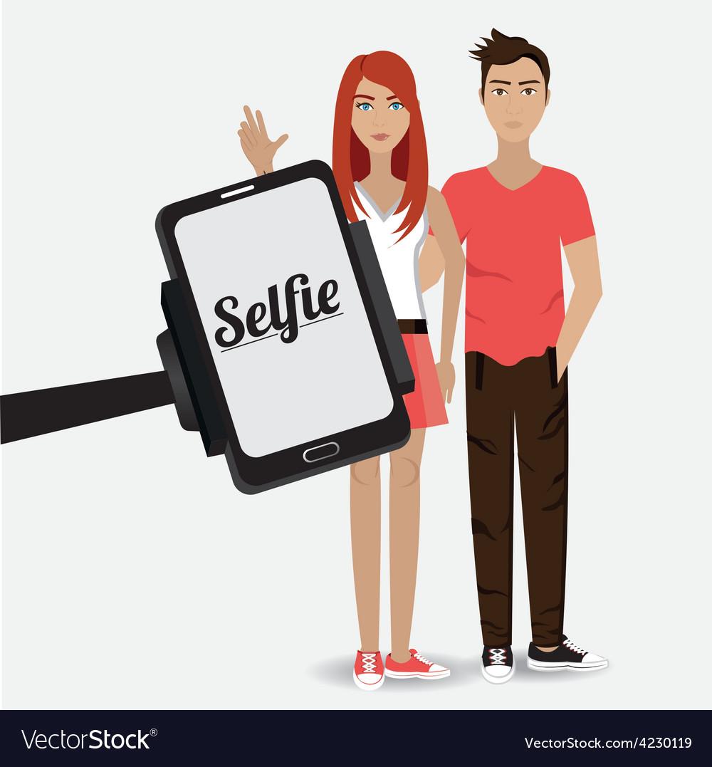 Selfie design vector | Price: 1 Credit (USD $1)