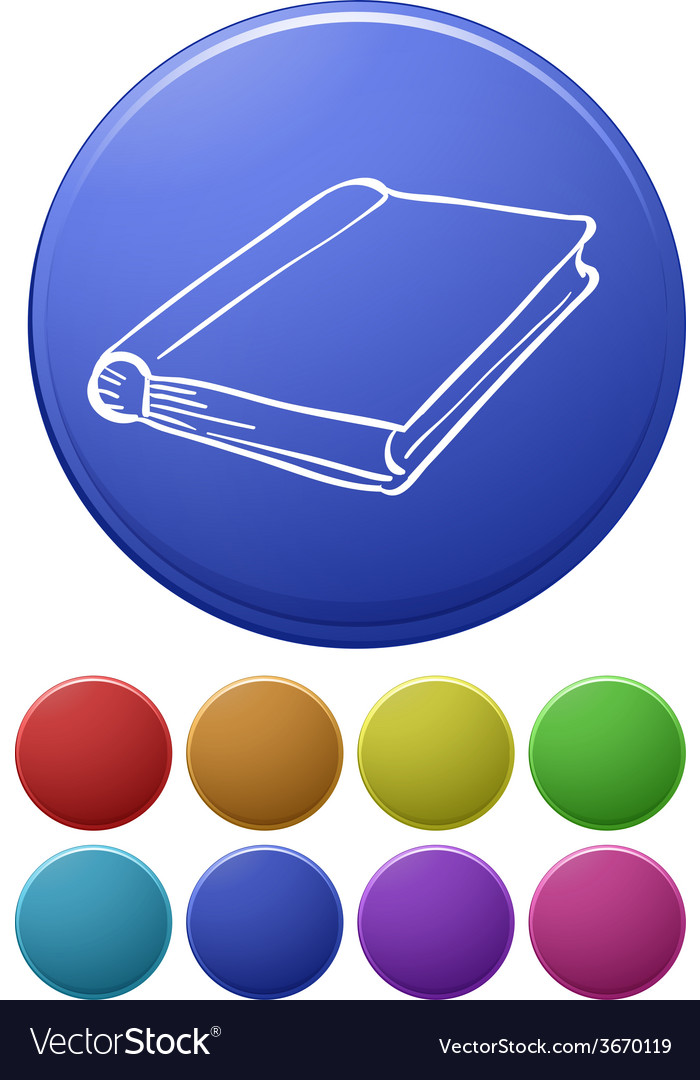 Small buttons and a big button with a notebook vector | Price: 1 Credit (USD $1)