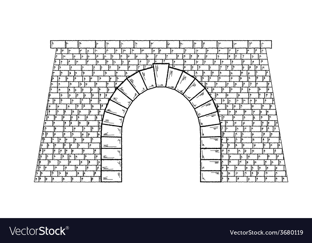 Stone tunnel vector | Price: 1 Credit (USD $1)