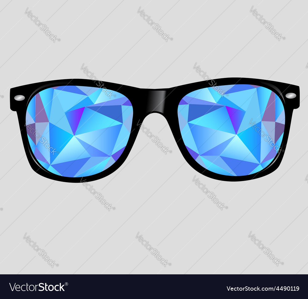 Sunglasses with abstract geometric triangles vector | Price: 1 Credit (USD $1)