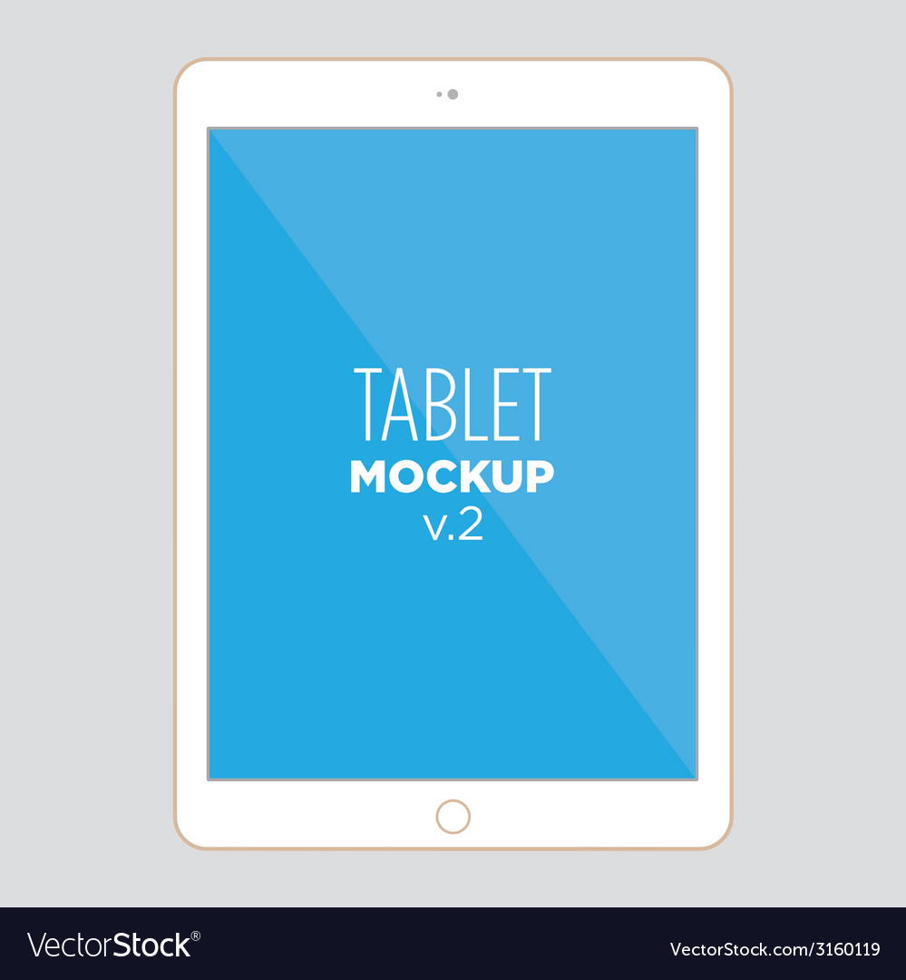 Tablet mockup v2 vector | Price: 1 Credit (USD $1)
