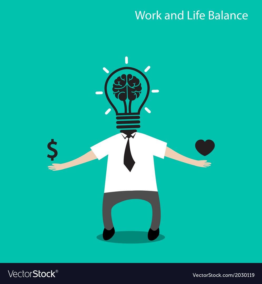 Work and life balance conceptbusinessman icon vector | Price: 1 Credit (USD $1)
