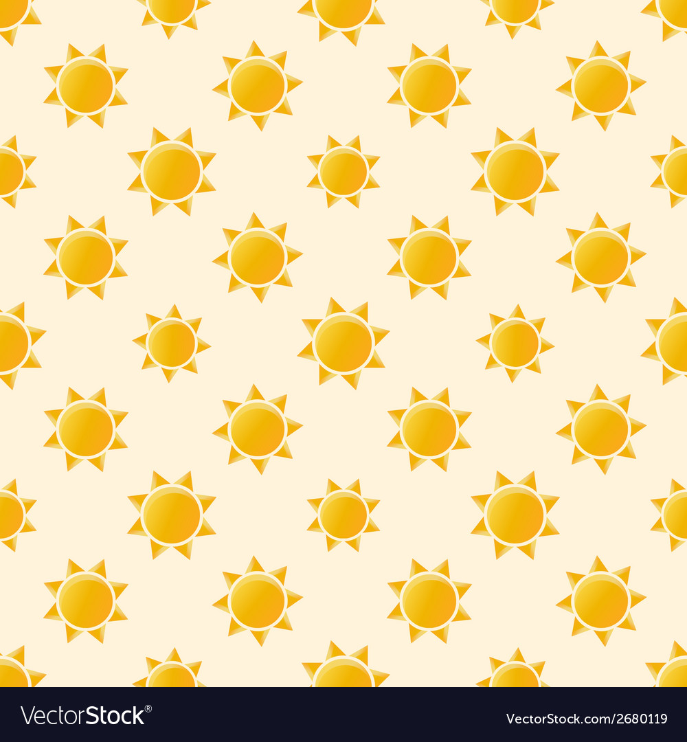 Yellow sun seamless pattern vector | Price: 1 Credit (USD $1)