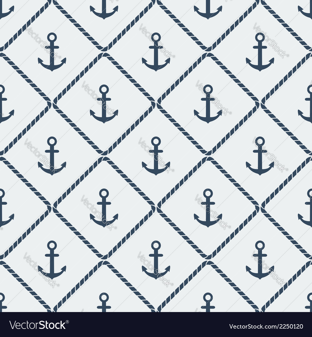 Anchors seamless pattern vector   Price: 1 Credit (USD $1)