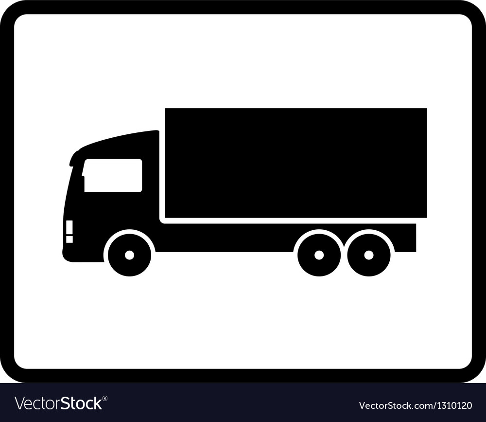 Black shipping truck vector | Price: 1 Credit (USD $1)