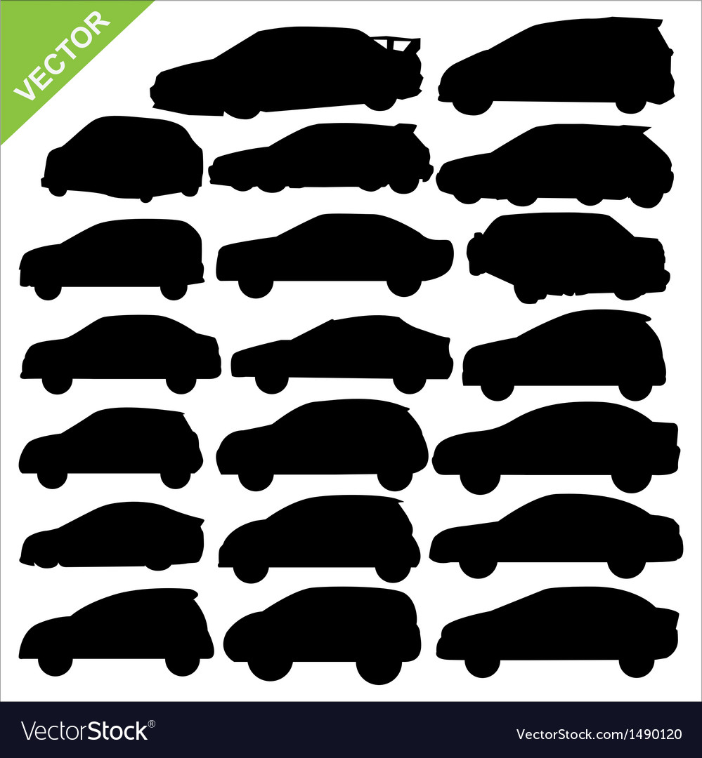 Car silhouettes vector | Price: 1 Credit (USD $1)
