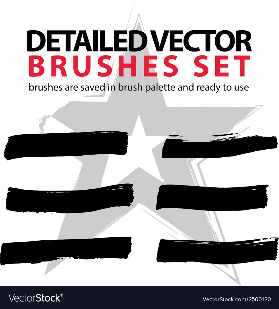 Collection of ink hand drawn brushes scanned and vector | Price: 1 Credit (USD $1)