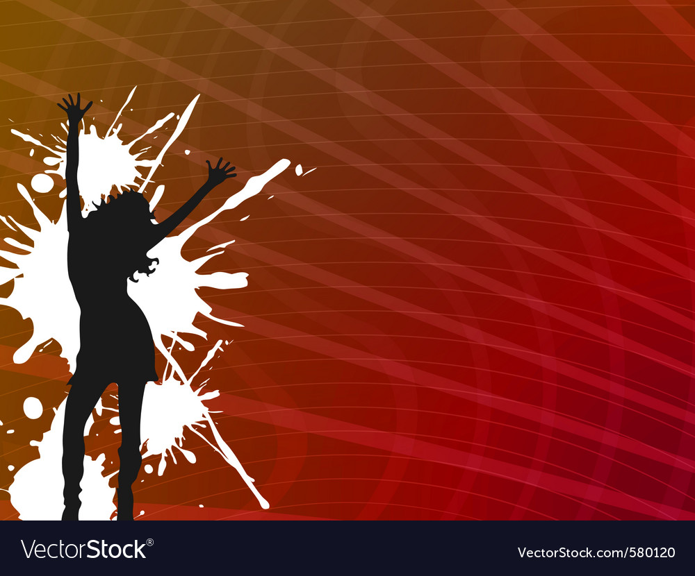 Girl dancer vector | Price: 1 Credit (USD $1)