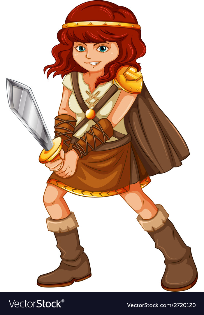 Girl viking vector | Price: 1 Credit (USD $1)