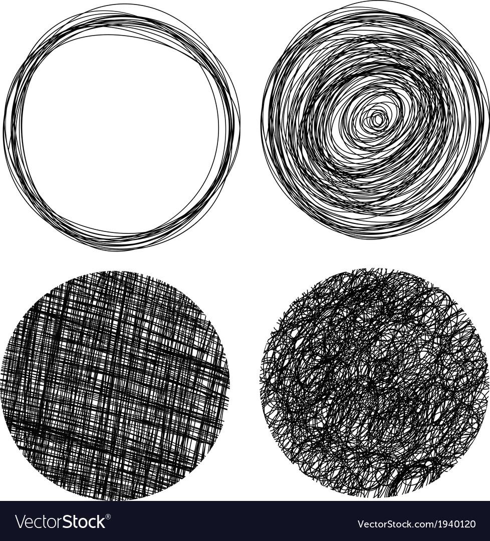 Hand drawn grunge circles vector | Price: 1 Credit (USD $1)