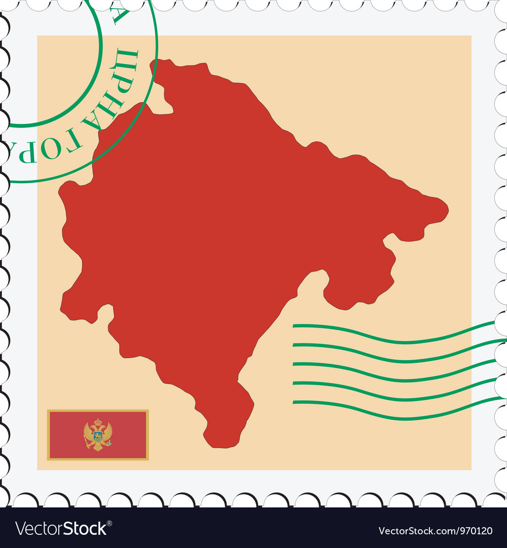 Mail to-from montenegro vector | Price: 1 Credit (USD $1)