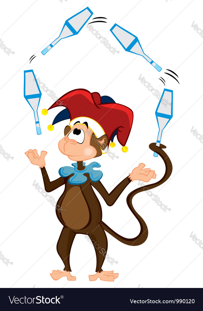 Monkey juggler vector | Price: 1 Credit (USD $1)