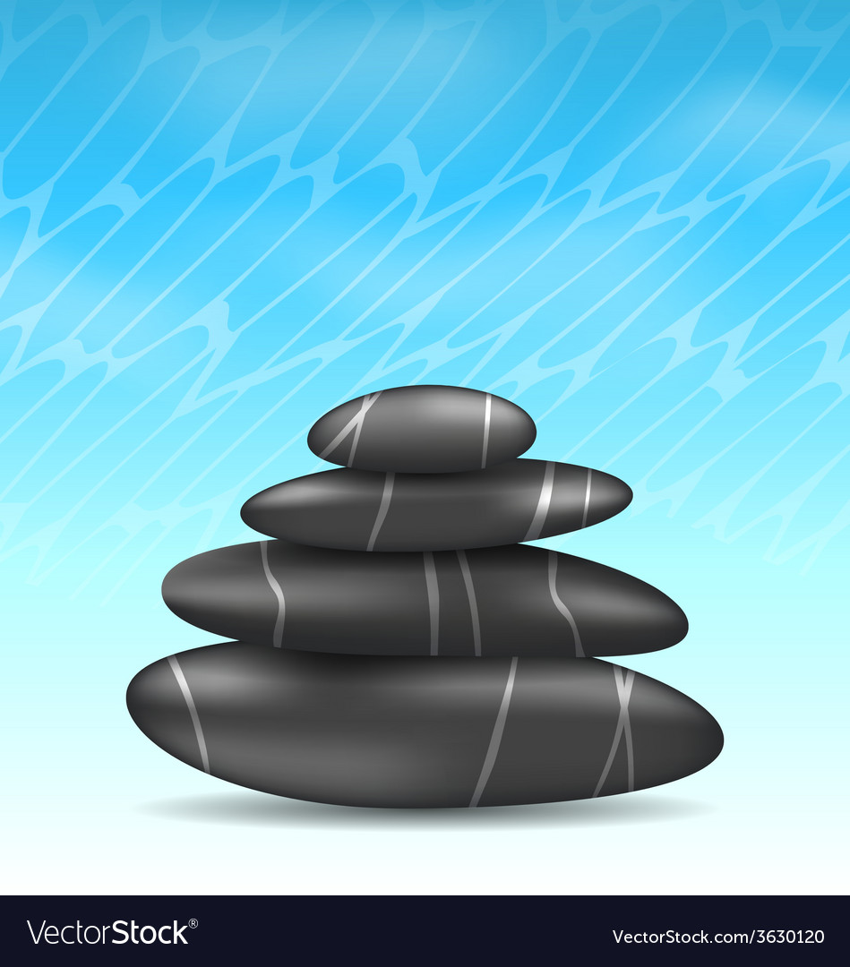 Nature background with pyramid zen spa stones vector | Price: 1 Credit (USD $1)