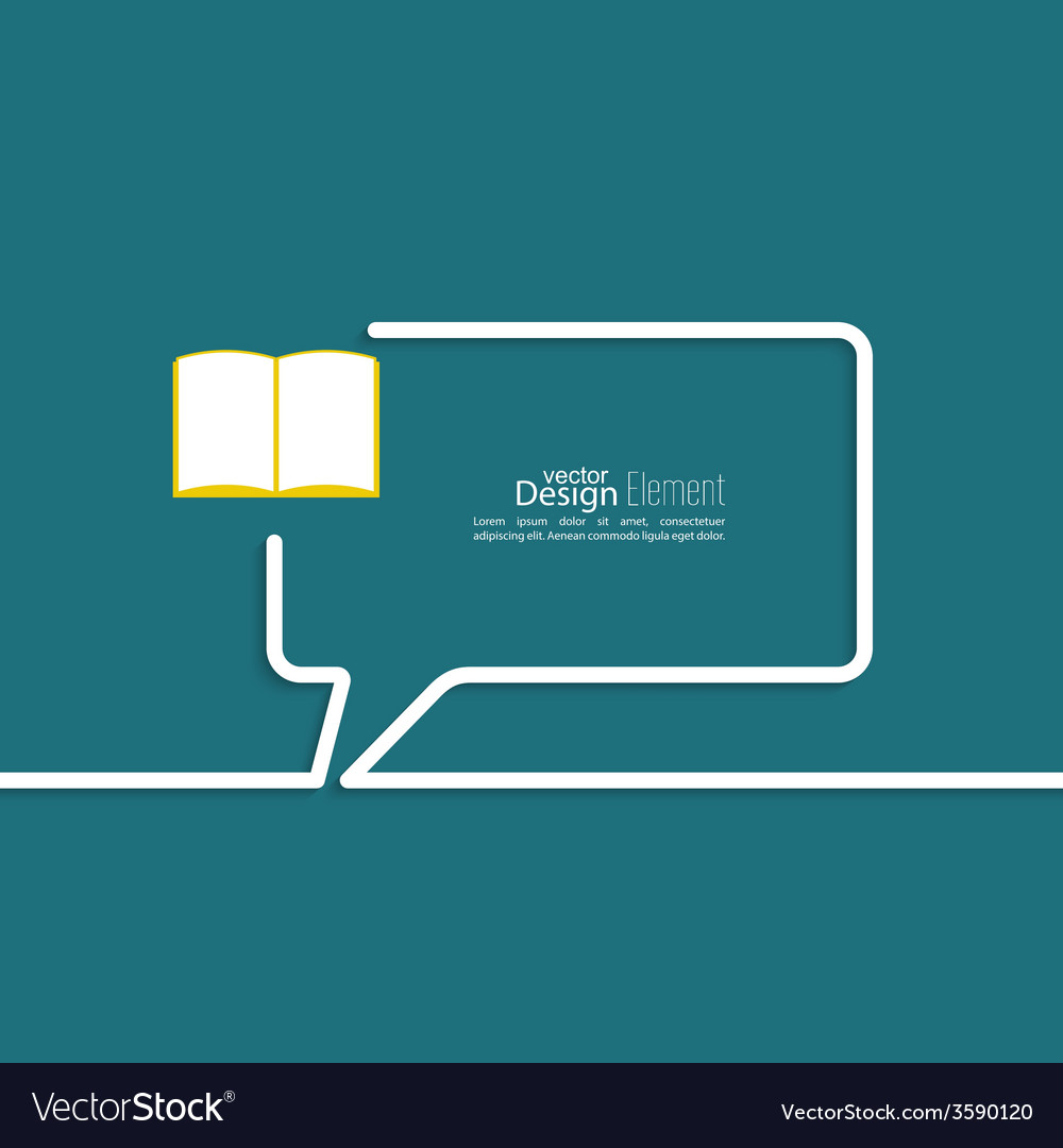 Open book with space for saying vector | Price: 1 Credit (USD $1)