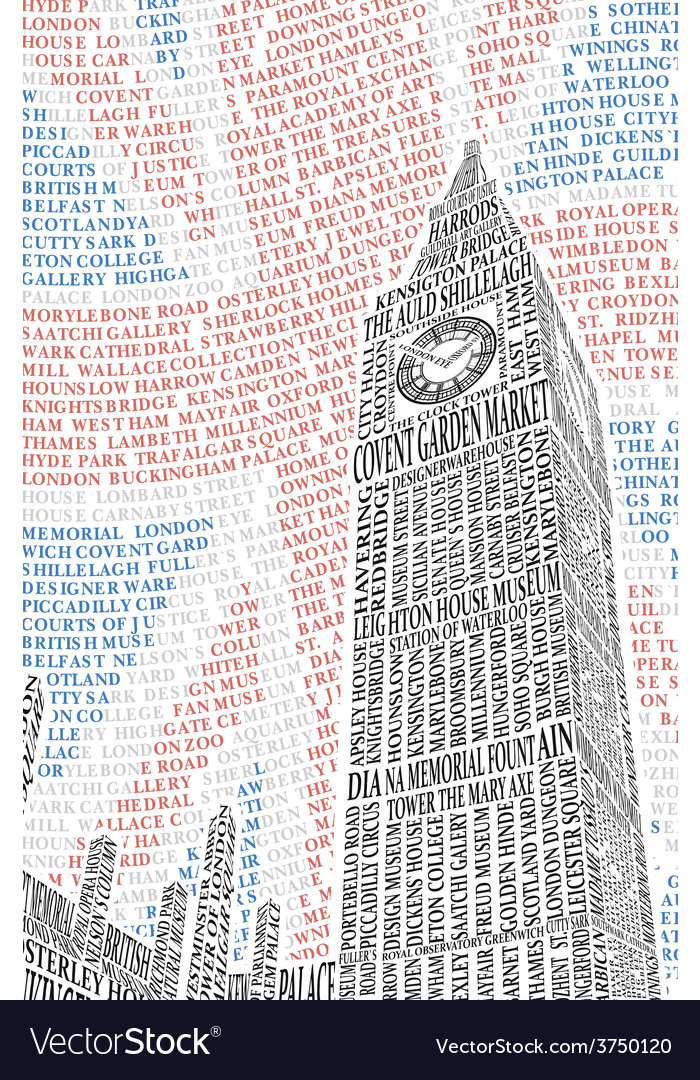 Poster with a picture of big ben vector | Price: 1 Credit (USD $1)