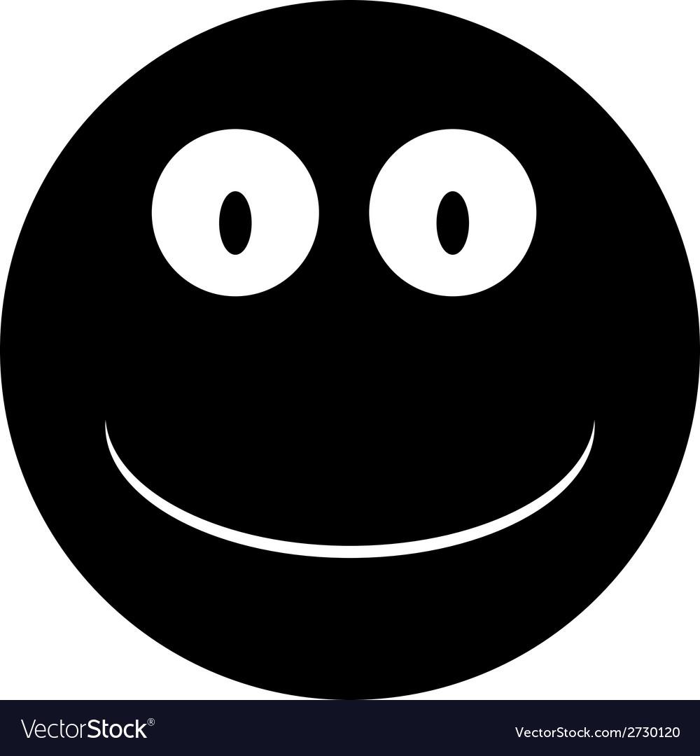 Smile face circle icon vector | Price: 1 Credit (USD $1)