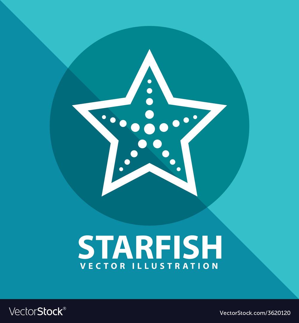 Starfish icon vector | Price: 1 Credit (USD $1)