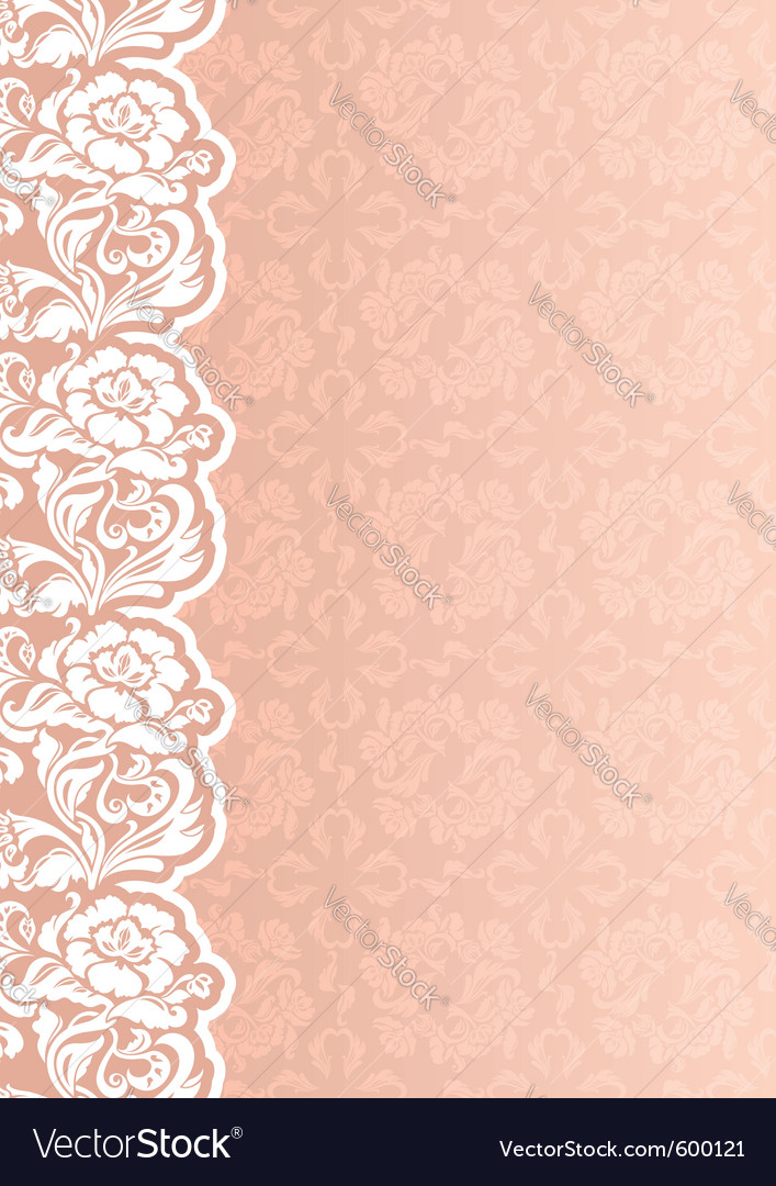 Flower background with lace vector | Price: 1 Credit (USD $1)