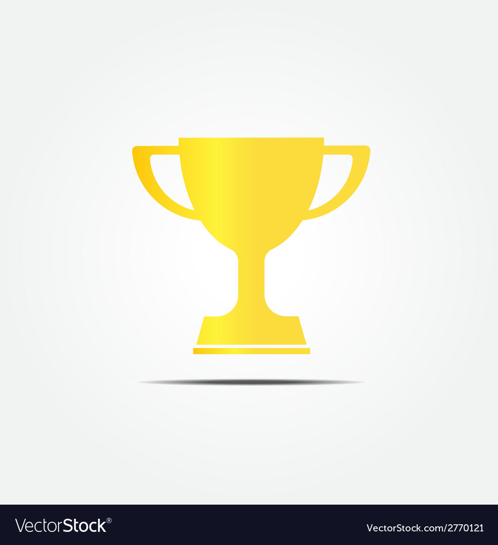 Gold trophy icon vector | Price: 1 Credit (USD $1)