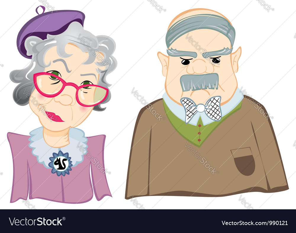 Grandparents vector | Price: 1 Credit (USD $1)