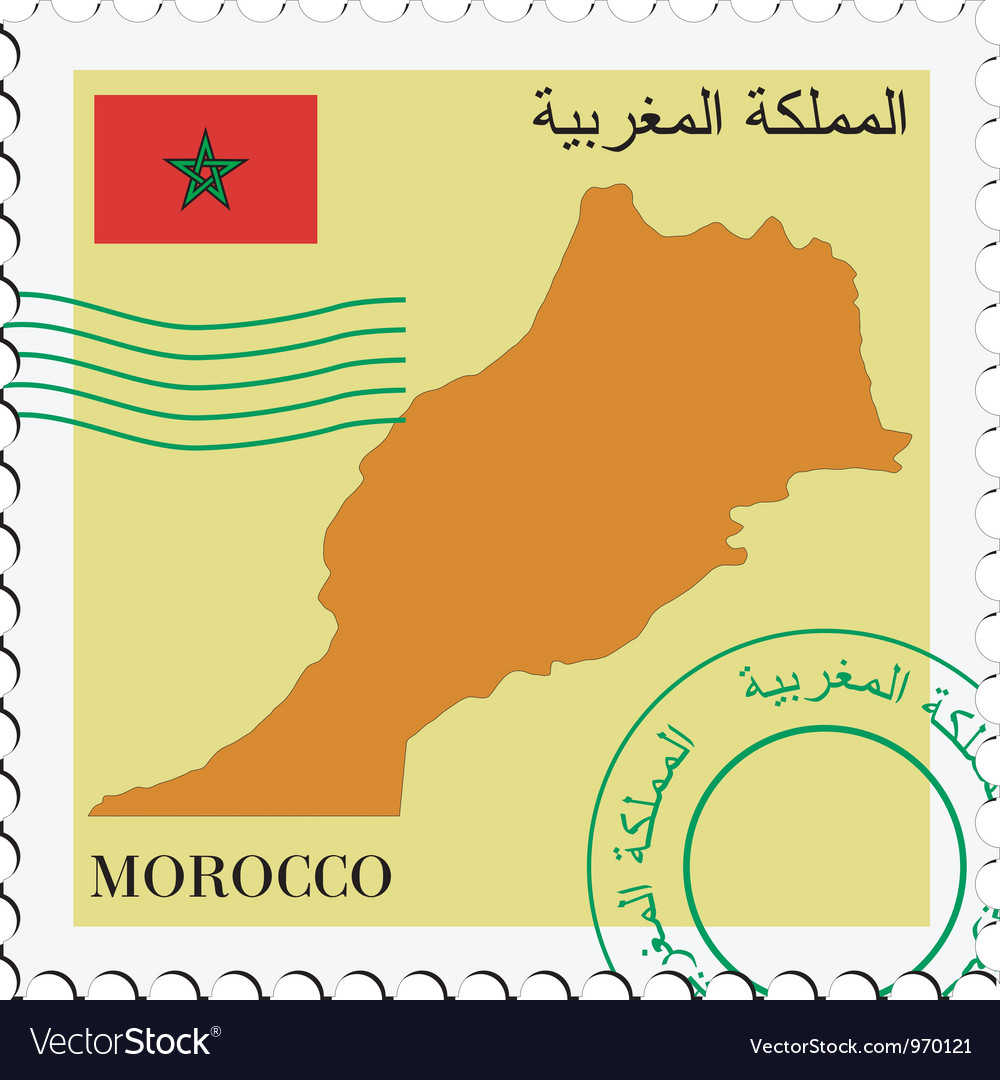 Mail to-from morocco vector | Price: 1 Credit (USD $1)