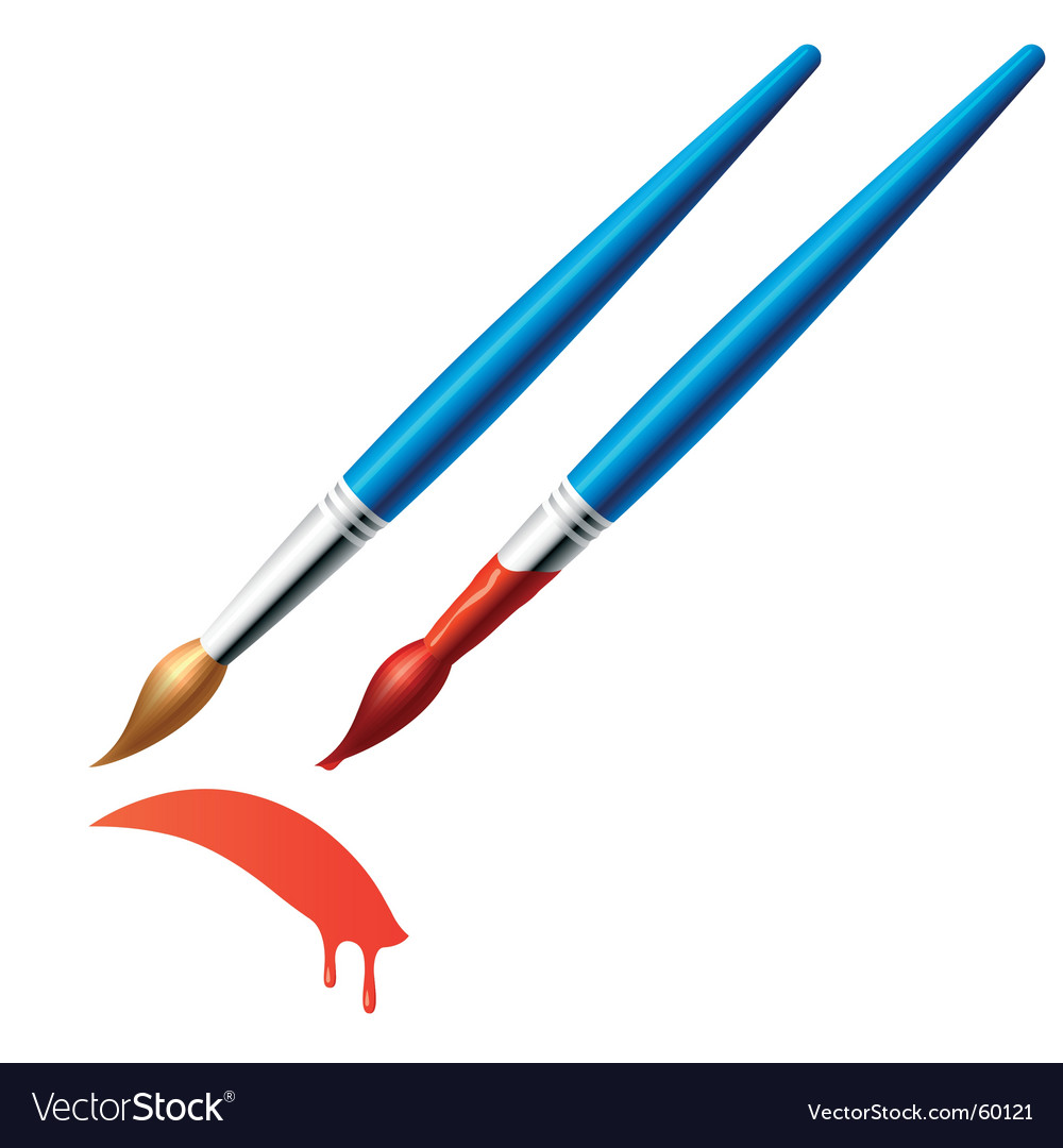Paintbrush vector | Price: 1 Credit (USD $1)