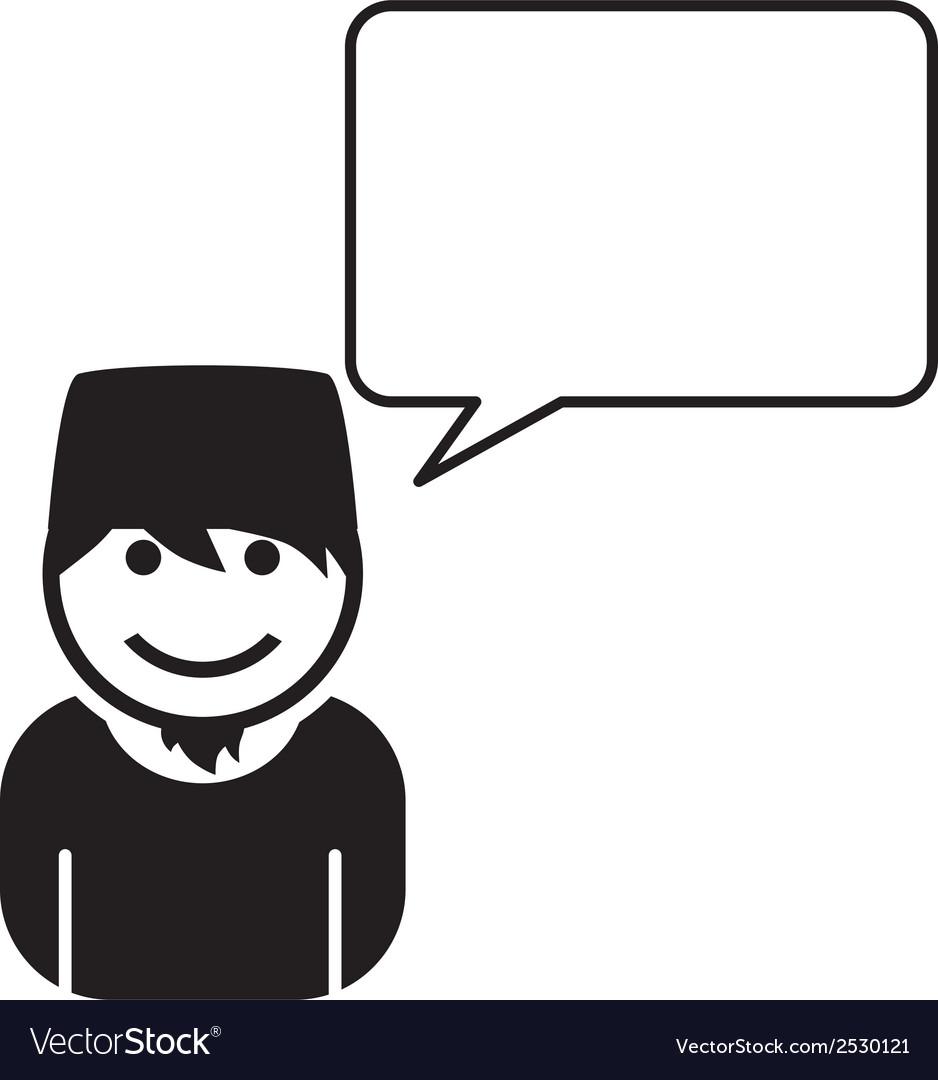 Person talking icon vector | Price: 1 Credit (USD $1)