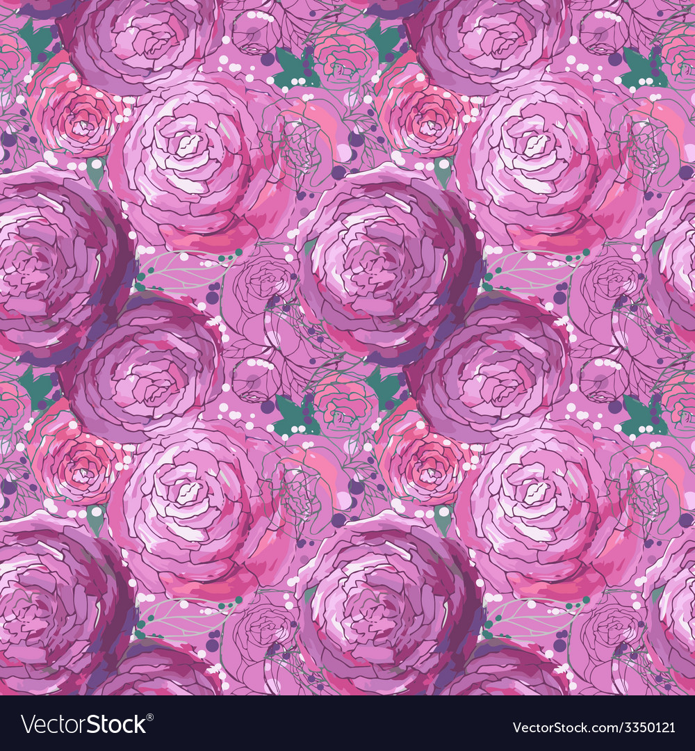 Seamless floral background vector   Price: 1 Credit (USD $1)