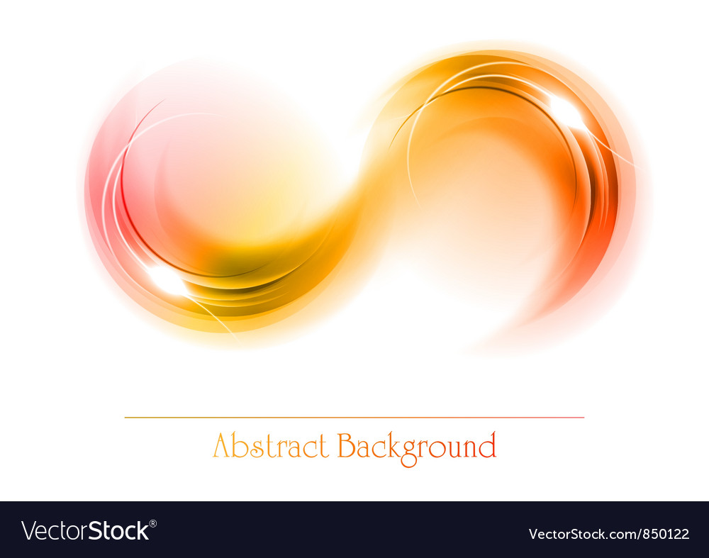 Abstract shape smoke double white red orange vector | Price: 1 Credit (USD $1)