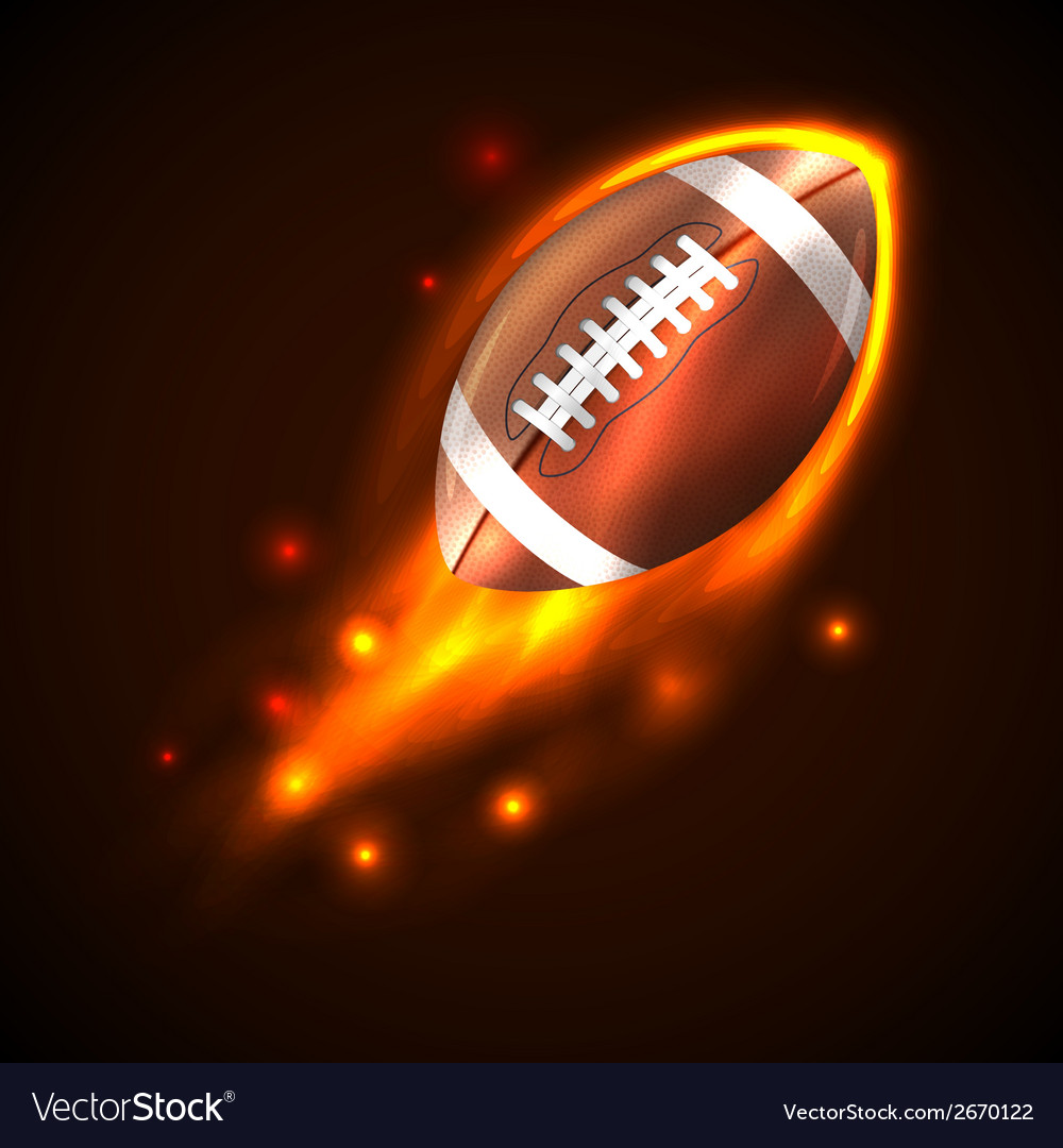 American football on fire vector | Price: 1 Credit (USD $1)