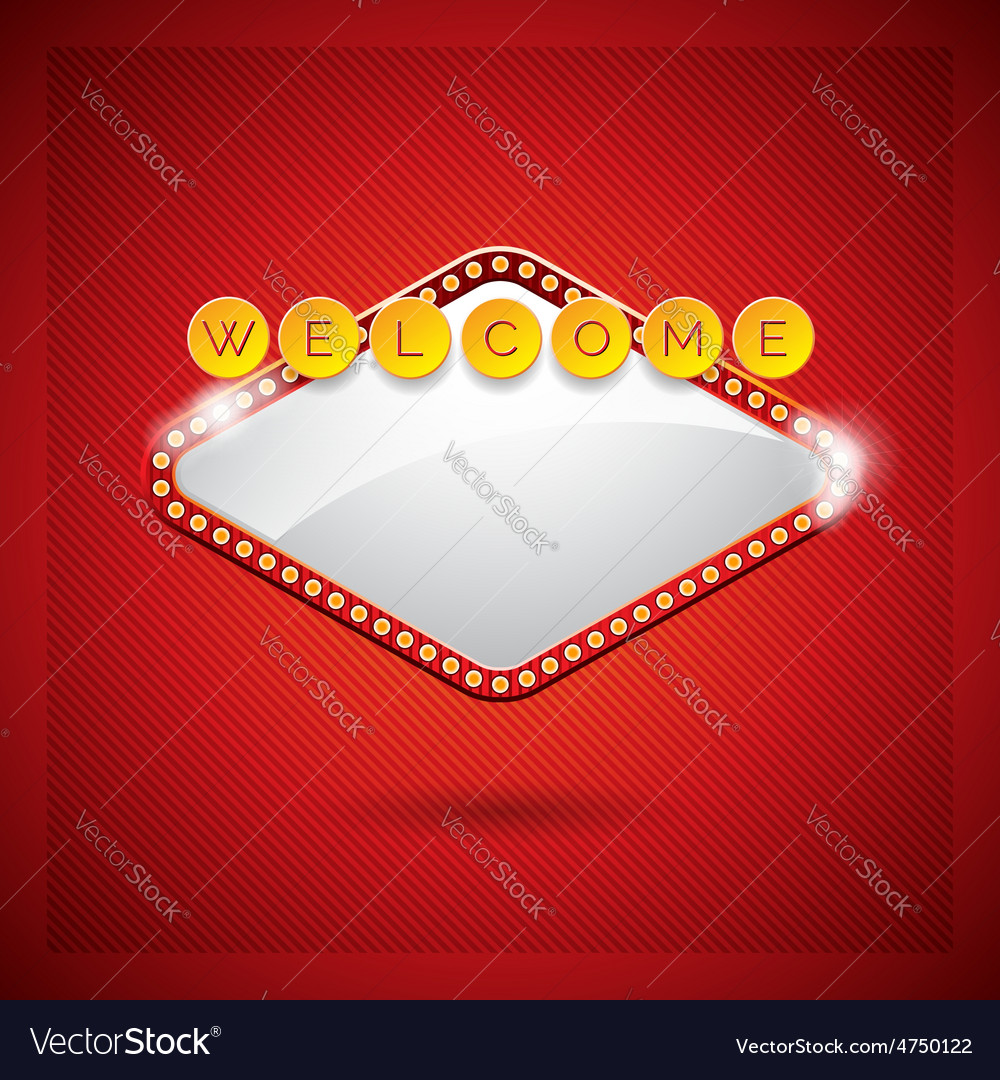 Casino with lighting display vector | Price: 3 Credit (USD $3)