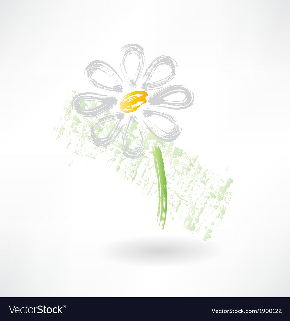 Daisy grunge icon vector | Price: 1 Credit (USD $1)