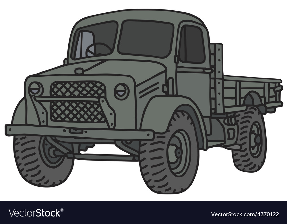 Old military truck vector | Price: 1 Credit (USD $1)