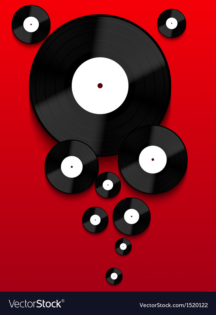 Old vinyl record background eps10 vector | Price: 1 Credit (USD $1)
