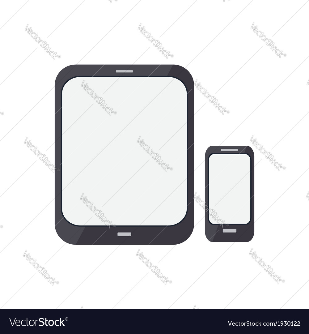 Render of an smart phone and a tablet pc vector | Price: 1 Credit (USD $1)