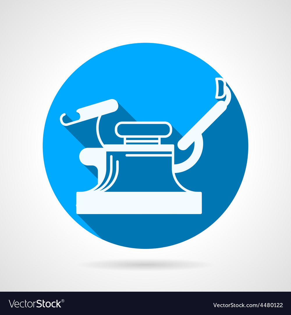 Round blue icon for gynecology chair vector   Price: 1 Credit (USD $1)