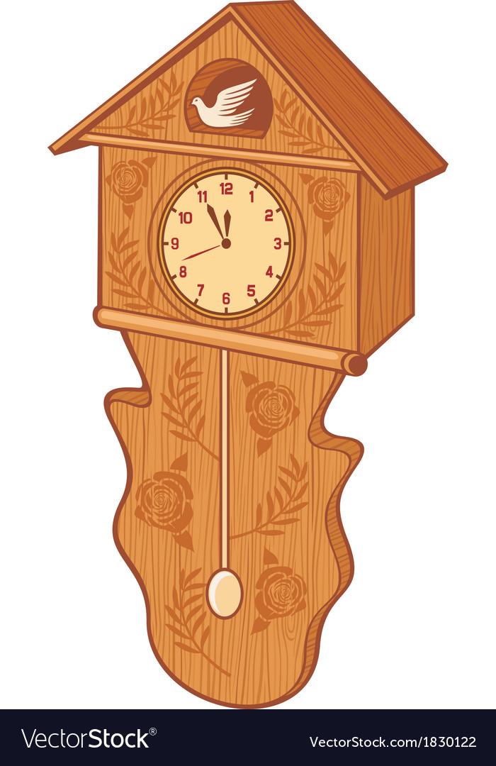 Wooden cuckoo clock vector | Price: 1 Credit (USD $1)