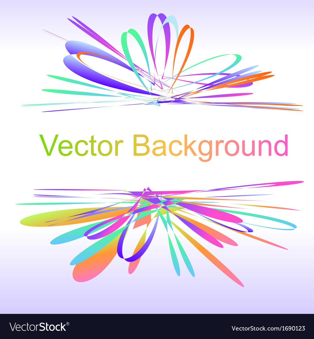 Abstract bow colorful background vector | Price: 1 Credit (USD $1)