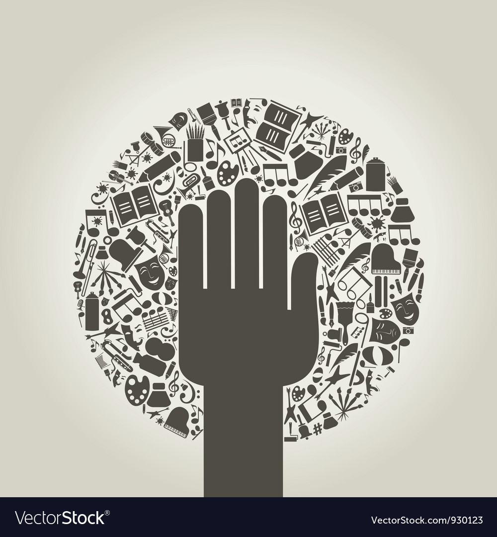 Arts a hand vector | Price: 1 Credit (USD $1)