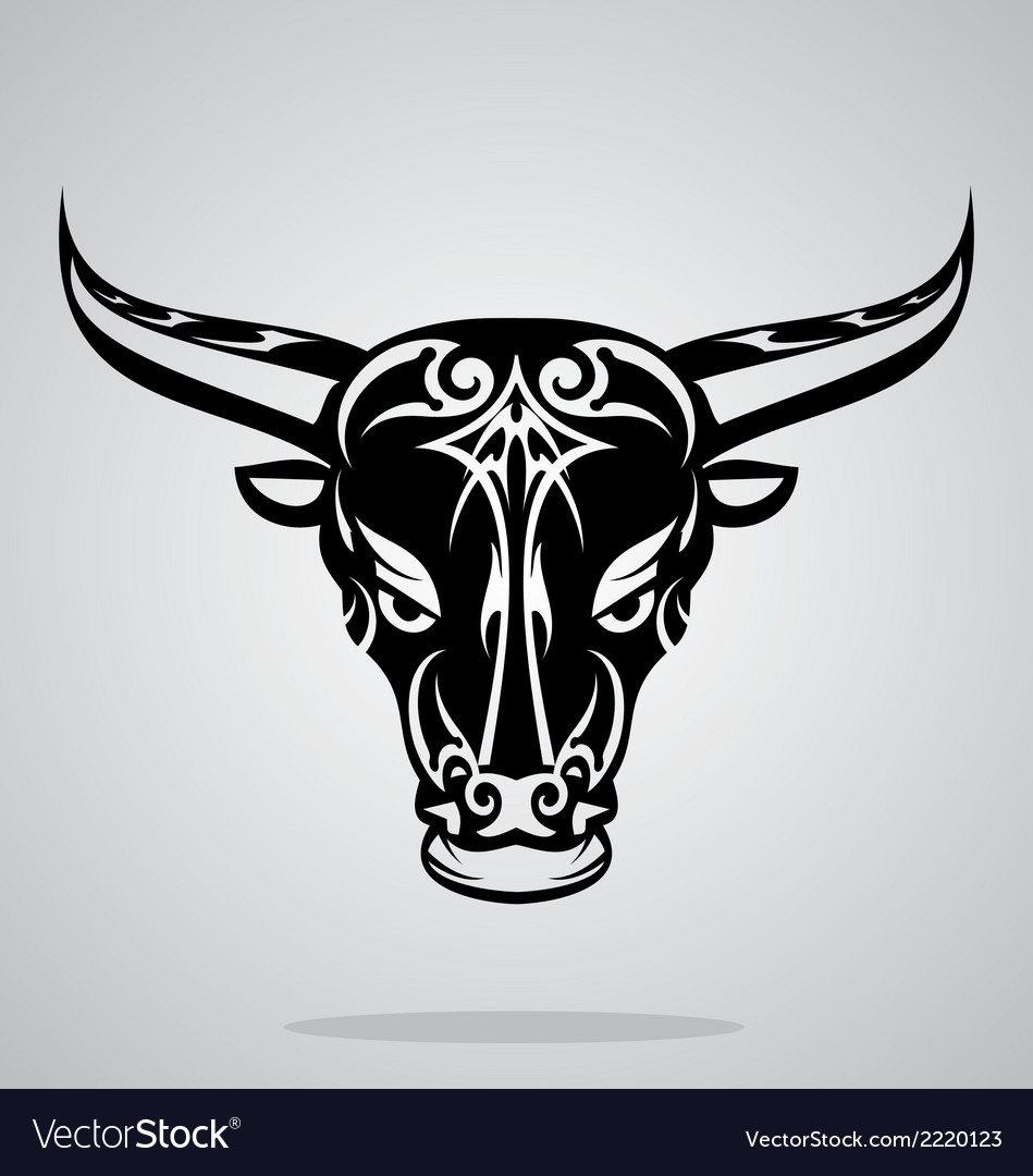 Bulls head tribal vector | Price: 1 Credit (USD $1)