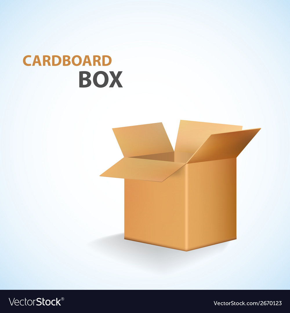 Cardboard open box vector | Price: 1 Credit (USD $1)