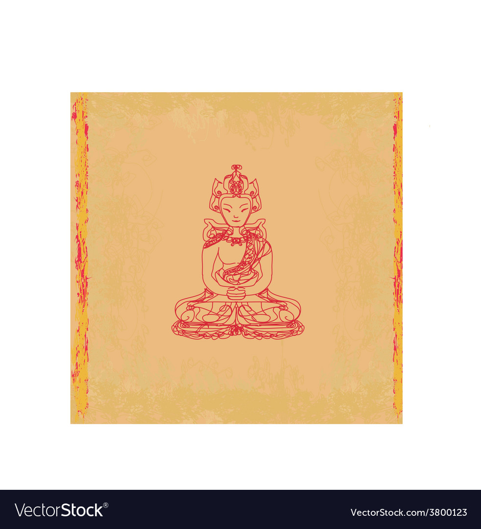 Chinese traditional artistic buddhism pattern vector | Price: 1 Credit (USD $1)